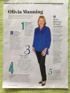 Olivia Manning in Feb,2013 Family Circle magazine