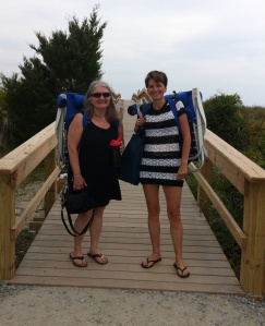 My sister, Mary Jo, and me at  Tybee Island