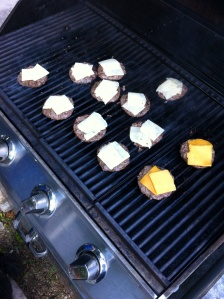 Sliders on the grill!
